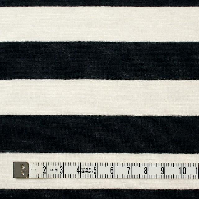 コットン×ボーダー(アイボリー&ブラック)×天竺ニット イメージ4