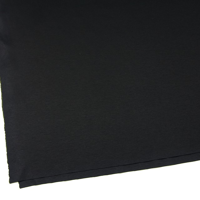 コットン×無地(ブラック)×スムースニット イメージ2