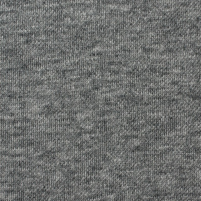 コットン×無地(チャコールグレー)×裏毛ニット イメージ1