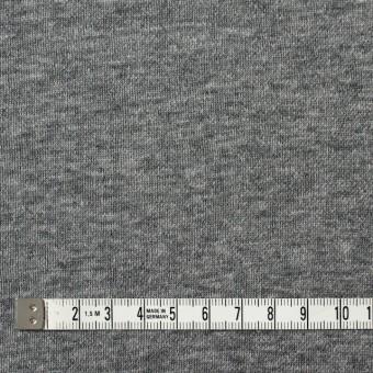 コットン×無地(チャコールグレー)×裏毛ニット サムネイル4