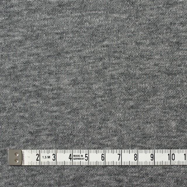 コットン×無地(チャコールグレー)×裏毛ニット イメージ4