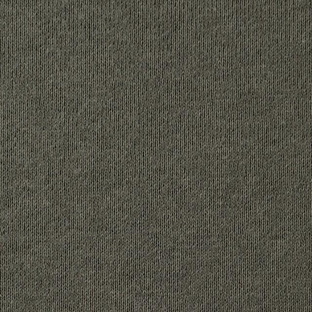 コットン×無地(カーキグリーン)×裏毛ニット イメージ1