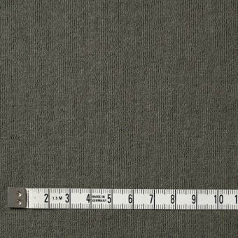 コットン×無地(カーキグリーン)×裏毛ニット サムネイル4