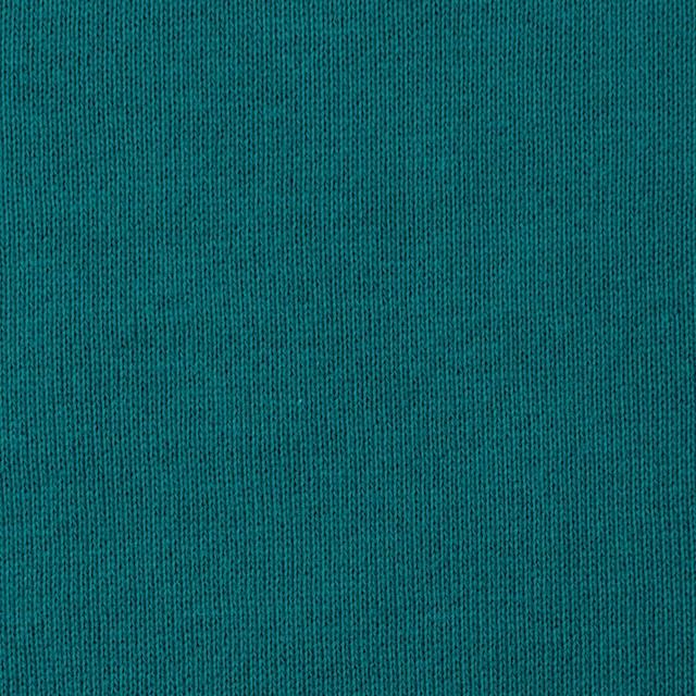 コットン×無地(エメラルドグリーン)×裏毛ニット イメージ1