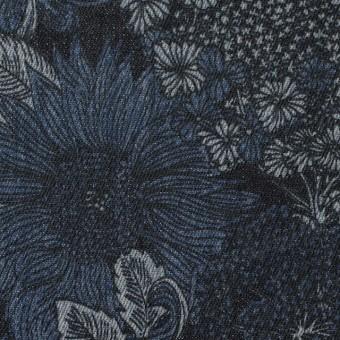 コットン&ポリウレタン×フラワー(インディゴ)×デニムストレッチ サムネイル1