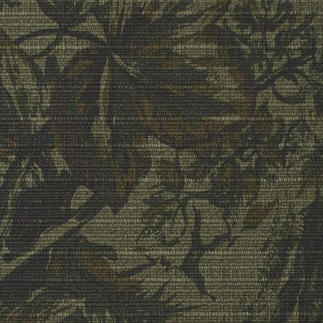 コットン×ボタニカル(カーキミックス)×スラブキャンバス イメージ1