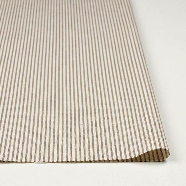 コットン×ストライプ(カーキベージュ)×かわり織 イメージ3