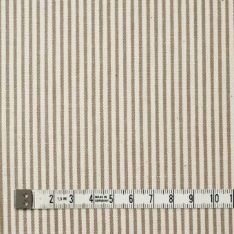 コットン×ストライプ(カーキベージュ)×かわり織 サムネイル4