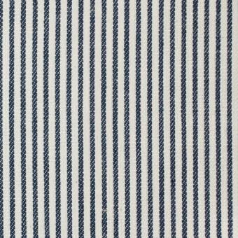 コットン×ストライプ(ネイビー)×かわり織 サムネイル1