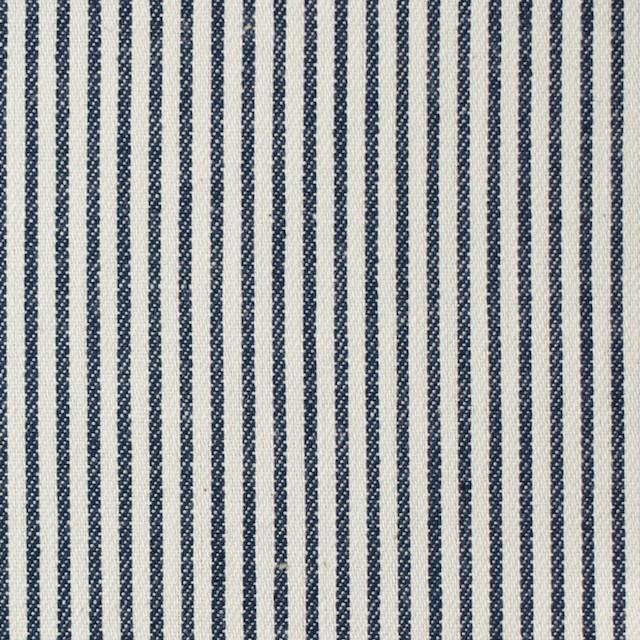 コットン×ストライプ(ネイビー)×かわり織 イメージ1
