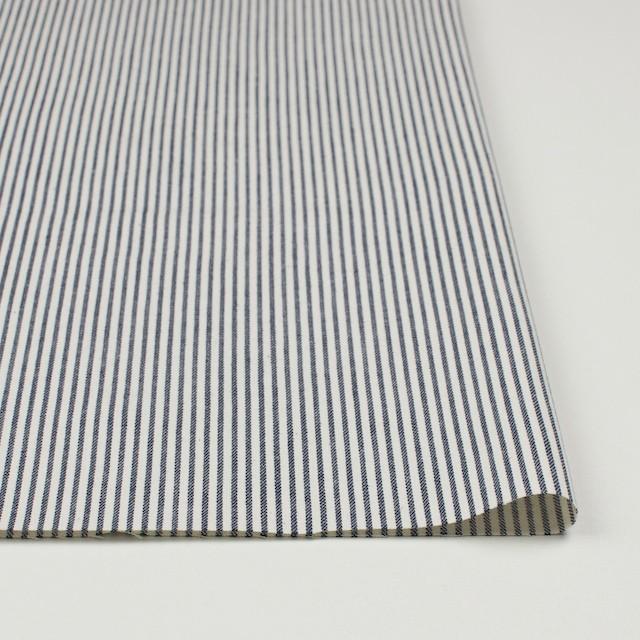コットン×ストライプ(ネイビー)×かわり織 イメージ3