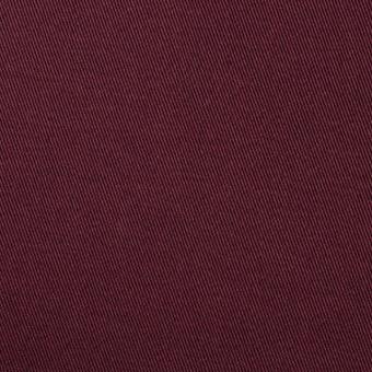 コットン&ポリウレタン×無地(バーガンディー)×チノクロス・ストレッチ サムネイル1