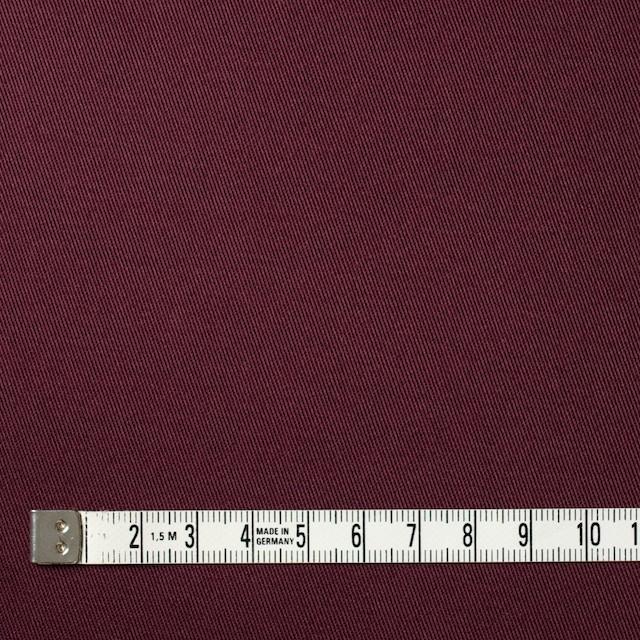 コットン&ポリウレタン×無地(バーガンディー)×チノクロス・ストレッチ イメージ4
