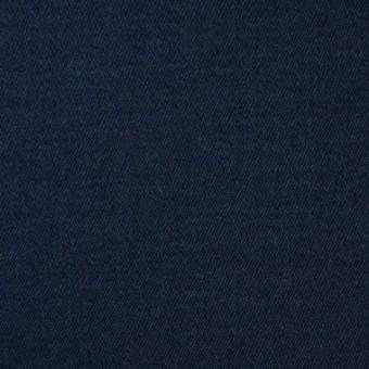 コットン&ポリウレタン×無地(ネイビー)×サテンストレッチ サムネイル1