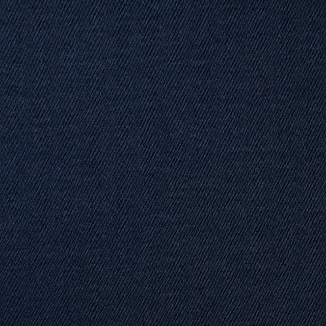 コットン&ポリウレタン×無地(ネイビー)×サテンストレッチ イメージ1