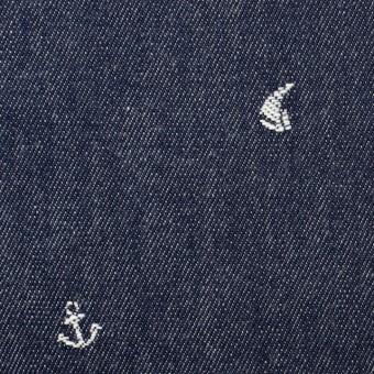 コットン×マリン(スカイブルー)×デニム・ジャガード サムネイル1
