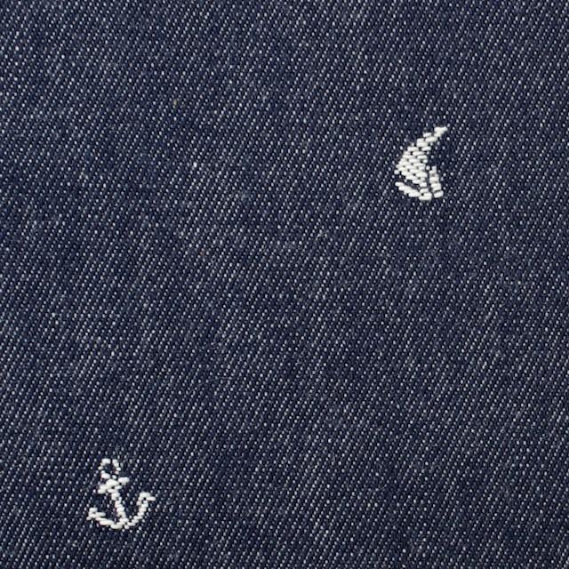 コットン×マリン(スカイブルー)×デニム・ジャガード イメージ1