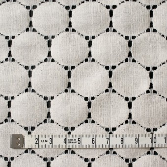 キュプラ&ナイロン×輪模様(アイボリー)×ラッセルレース_全2色 サムネイル4
