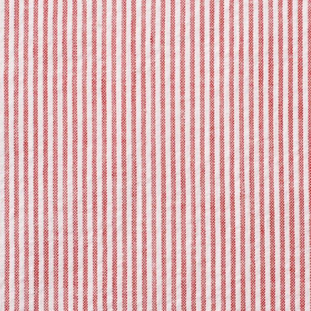 コットン×ストライプ(レッド)×サッカー_全2色 イメージ1