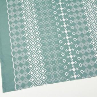 コットン×幾何学模様(ミントグレー)×ローン刺繍_全3色 サムネイル2