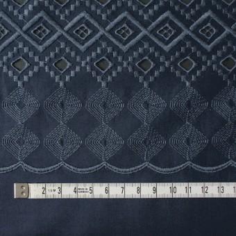コットン×幾何学模様(ネイビー)×ローン刺繍_全3色 サムネイル4