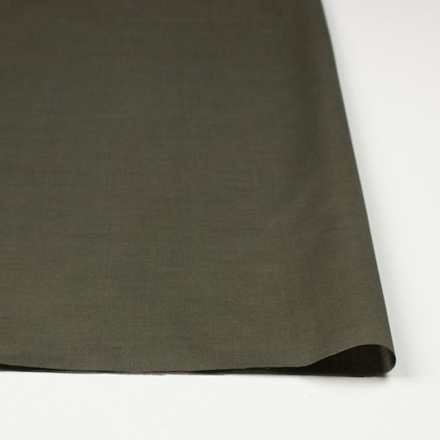コットン×フラワー(カーキグリーン)×ローンシャーリング刺繍 イメージ3