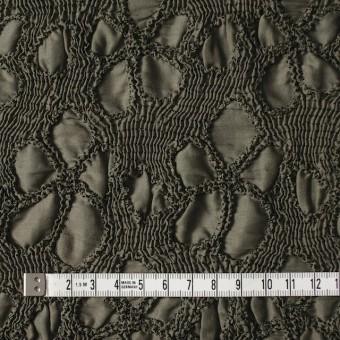 コットン×フラワー(カーキグリーン)×ローンシャーリング刺繍 サムネイル4
