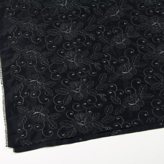 ポリエステル×フラワー(ブラック)×タフタ刺繍_全2色 イメージ2