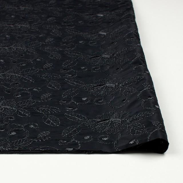 ポリエステル×フラワー(ブラック)×タフタ刺繍_全2色 イメージ3