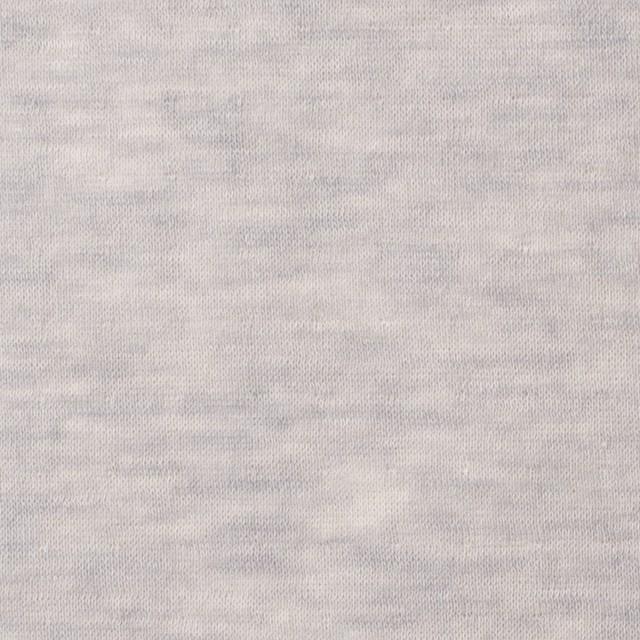 コットン×無地(パールグレー)×W天竺ニット イメージ1
