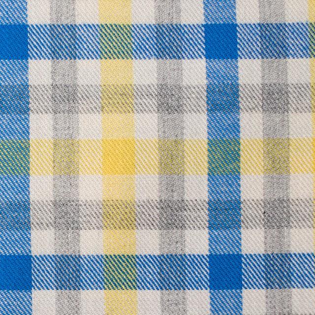 コットン×チェック(イエロー&ブルー)×ビエラ_全3色 イメージ1
