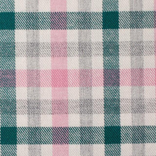 コットン×チェック(ピンク&グリーン)×ビエラ_全3色 イメージ1