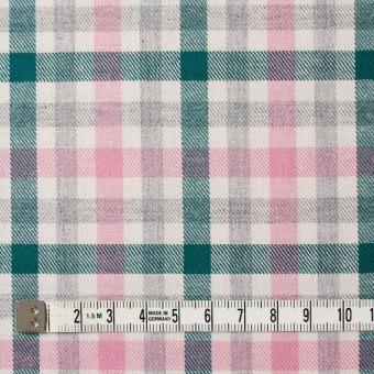 コットン×チェック(ピンク&グリーン)×ビエラ_全3色 サムネイル4