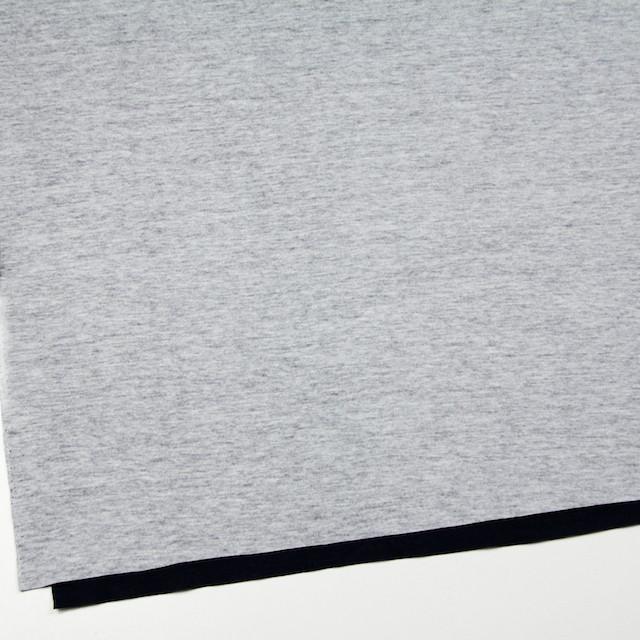 コットン×無地(杢グレー&ブラック)×W天竺ニット イメージ2