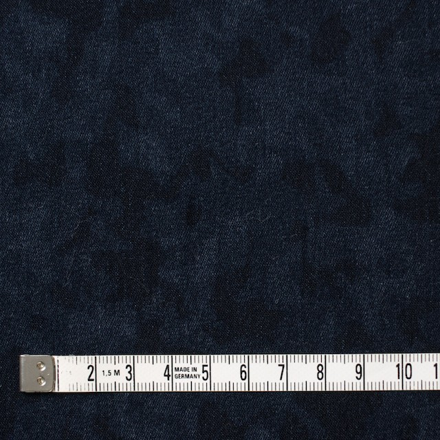 コットン&ポリウレタン×幾何学模様(インディゴ)×デニムストレッチ イメージ4