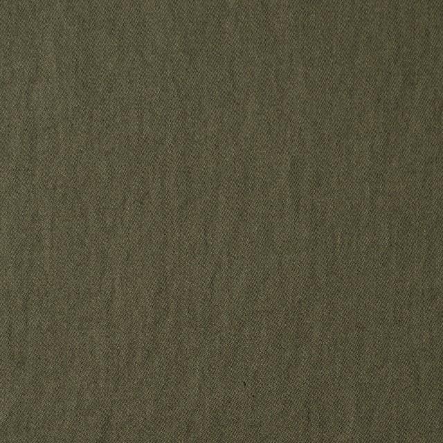 コットン×無地(カーキグリーン)×サージワッシャー_全4色 イメージ1