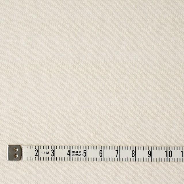 コットン&ポリエステル×無地(アイボリー)×天竺ニット_全3色 イメージ4