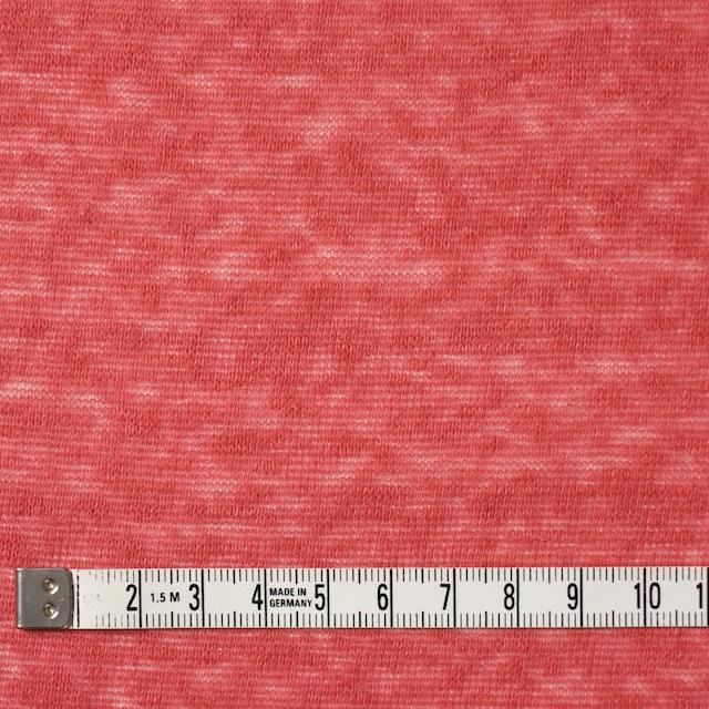 コットン&ポリエステル×無地(スカーレット)×天竺ニット_全3色 イメージ4