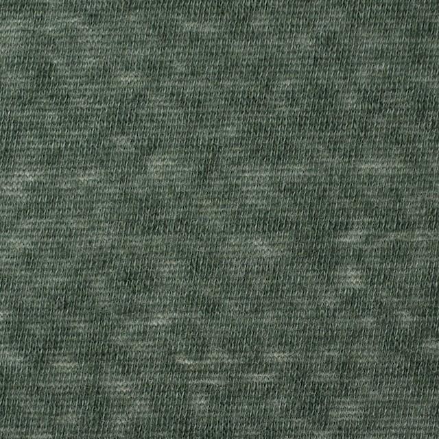 コットン&ポリエステル×無地(モスグリーン)×天竺ニット イメージ1