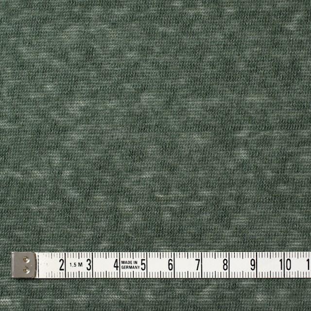 コットン&ポリエステル×無地(モスグリーン)×天竺ニット イメージ4