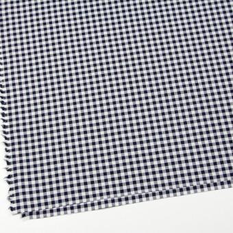コットン&ポリエステル混×チェック(オフホワイト&ネイビー)×サージストレッチ_全2色 サムネイル2