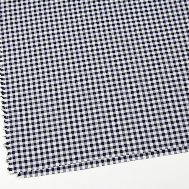 コットン&ポリエステル混×チェック(オフホワイト&ネイビー)×サージストレッチ_全2色 イメージ2