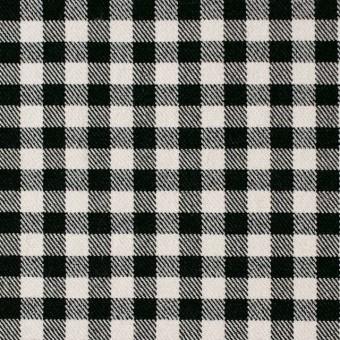 コットン&ポリエステル混×チェック(キナリ&ブラック)×サージストレッチ_全2色 サムネイル1