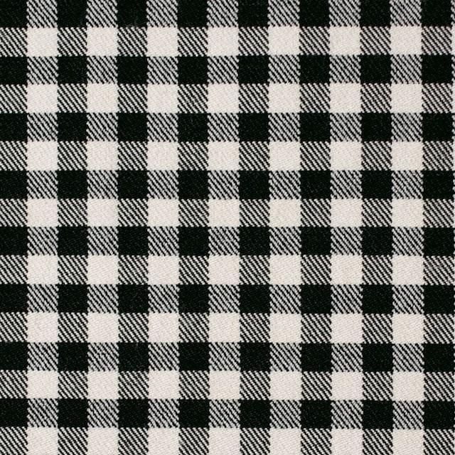 コットン&ポリエステル混×チェック(キナリ&ブラック)×サージストレッチ_全2色 イメージ1