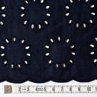 コットン×サークル(ネイビー)×ローン刺繍 サムネイル4