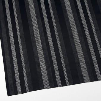 コットン×ストライプ(ブラック)×からみ織 サムネイル2