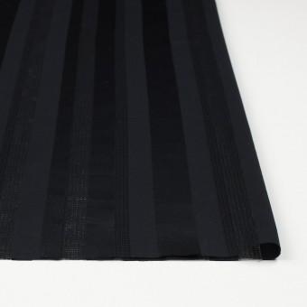 コットン×ストライプ(ブラック)×からみ織 サムネイル3