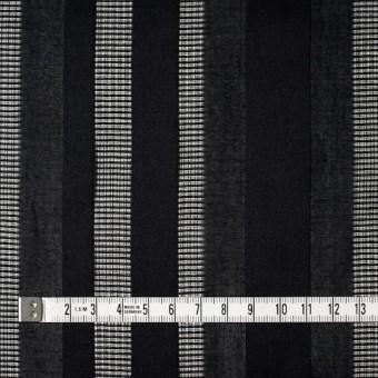 コットン×ストライプ(ブラック)×からみ織 サムネイル4