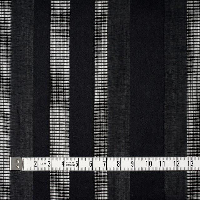 コットン×ストライプ(ブラック)×からみ織 イメージ4