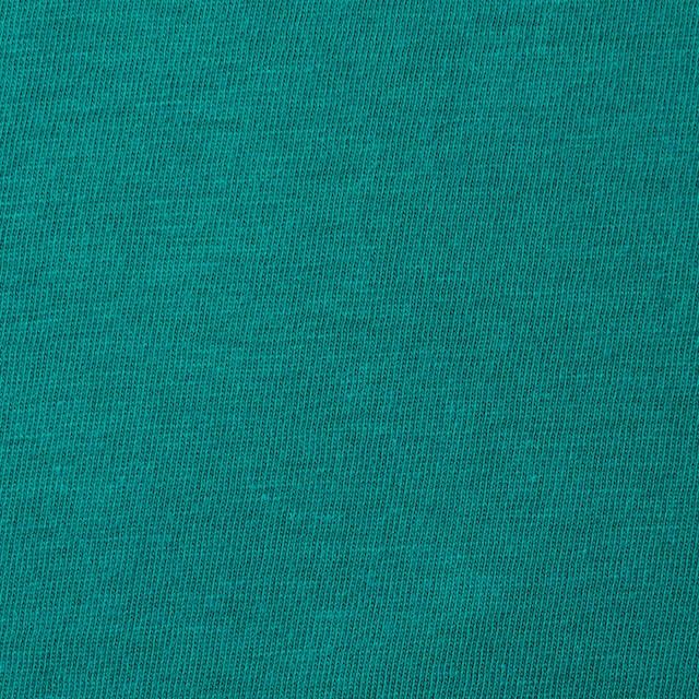 コットン×無地(エメラルドグリーン)×天竺ニット イメージ1